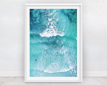 תמונה גולשים | תמונות ים כחול | פוסטר גלישה | פוסטר חוף | תמונה לילדים | מתנה לדירה | קליפורניה | תמונות למסגור | הדפס מודרני | סט פוסטרים