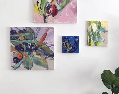 קיר גלריה, ציורים אבסטרקטיים, ציור אורגינלי על קנבס, אמנות מודרנית לבית, אומנות ישראלית מקורית