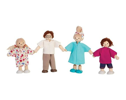 משפחת בית בובות | משפחה בובות מעץ