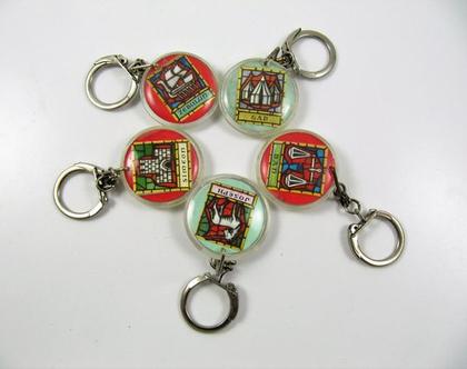 מחזיקי מפתחות וינטג' ♥ 5 מתוך 12 השבטים