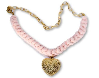 שרשרת לב אפרסק, שרשרת מיוחדת, שרשרת לב, תליון לב, תליון לב זהב, שרשרת טריקו