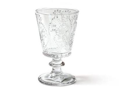 כוס יין מקסימה על רגל - דוגמת ״חרוזים״