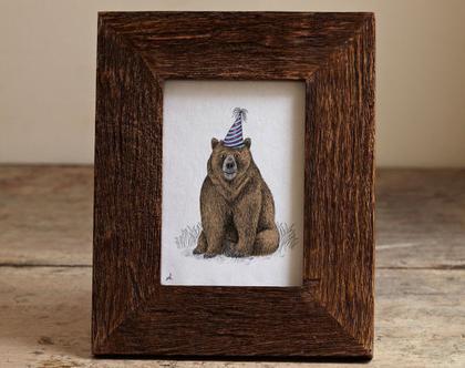 גלויה מאויירת, גלויה למיסגור, דוב יומולדת
