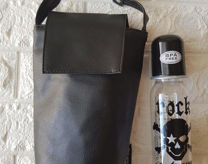 נרתיק לבקבוקים שחור קלאסי