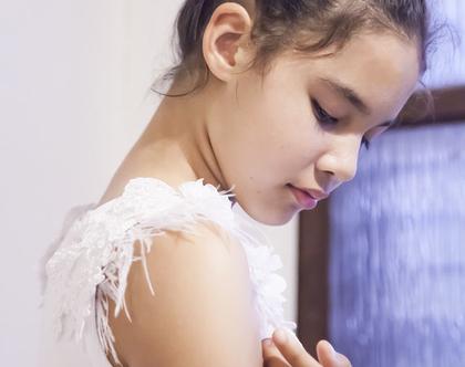 טופ חגיגי - גופיה לילדה - ביגוד מעוצב