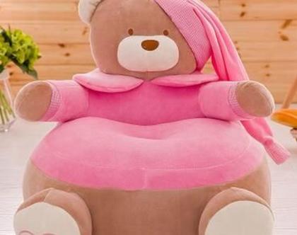 כורסת פינקי הדובה לילדים נעימה במיוחד