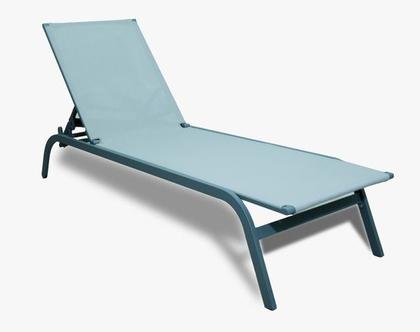מיטת שיזוף דגם מיכל עשויה אלומיניום משולב טקסליין איכותי