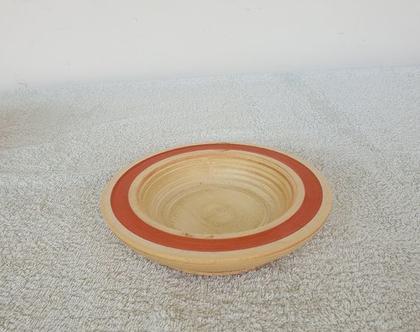 קערית הגשה מעץ עבודת יד - 18005