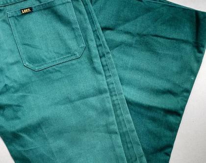 ג'ינס סנטרופז ירוק LEE לי | ג'ינס סנטרופז LEE סבנטיז מקורי מידה 36