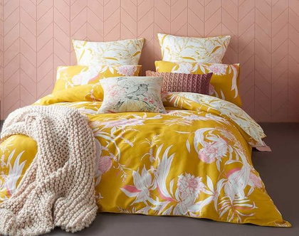 סט מצעי סאטן קארווי | עיצוב חדר שינה | כלי מיטה יוקרתיים kas