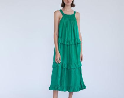 שמלת בלרינה ירוקה