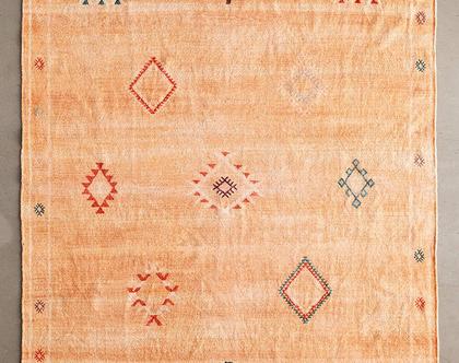 שטיח כתמתם בעיצוב מרוקאי, שטיח בוהו קטן