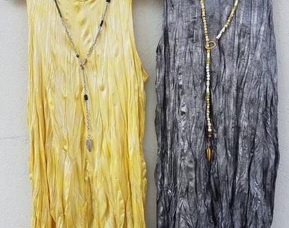 שמלת ערב מבריקה בצבעים מטאליים