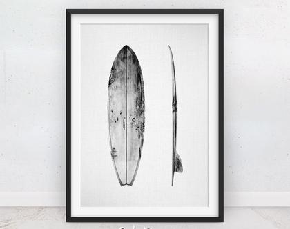 תמונה של גלשן | פוסטר מינימליסטי | שחור לבן | תמונות חוף | תמונה לקיר | פוסטר מעוצב | קליפורניה | תמונות לילדים | הדפס מודרני | מתנה לנוער