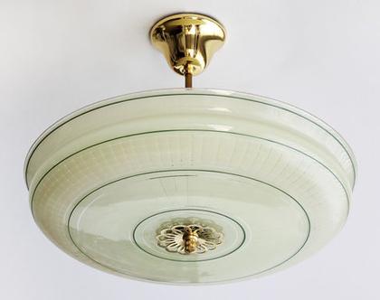נברשת ארט דקו גדולה, מנורת תקרה וינטאג׳ גדולה, מנורת תקרה מעוצבת