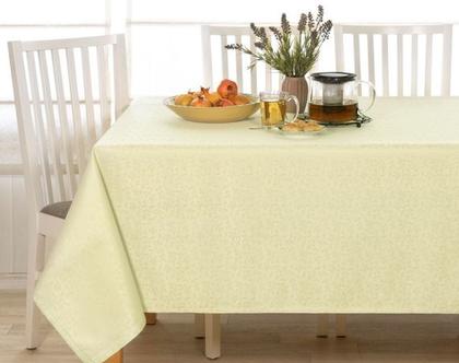 """מפת שולחן דגם - """"עלים"""" פיסטוק"""