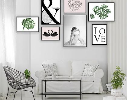 קולאג אקלקטי -3 Ballerina| סט הדפסים בעיצור מקורי | סט תמונות לעיצוב הבית | תמונות לסלון | תמונות מיוחדות לבית