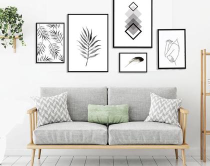 תמונות בעיצוב נורדי | סט הדפסים בעיצור מקורי | סט תמונות לעיצוב הבית | תמונות לסלון | תמונות שחור לבן |תמונות בעיצוב מינימליסטי | אבסטרקט