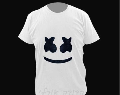 חולצה מעוצבת יוניסקס | חולצה קצרה | חולצות קצרות | חולצה לבנה | טישרט מעוצבת | מרשמלו |