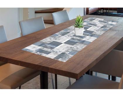 ראנר PVC בעיצוב אבסטרקטי מיושן| ראנר ויניל מעוצב לשולחן | ראנר מבודד חום | ראנר מעוצב לשולחן האוכל