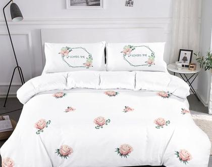 סט מצעים למיטת יחיד/ וחצי 100% כותנה