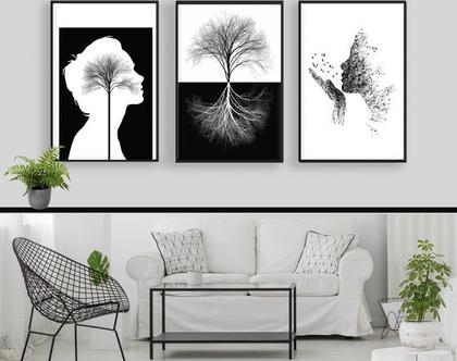 תמונות בשחור לבן - עיצוב מקורי |עיצוב נורדי| סט תמונות בעיצוב מינימליסטי | תמונות לסלון | תמונות שחור לבן|תמונות לעיצוב המשרד