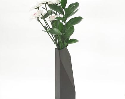 אגרטל פרחים מקרמיקה, אגרטל גבוה, אגרטל גאומטרי, ואזה לפרחים, אגרטלים לבית, אגרטל גדול, עיצוב הבית, עיצוב מינימליסטי, עיצוב מודרני, מתנה לחג