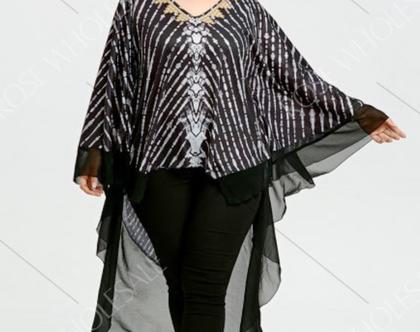 חולצת טוניקה במידות גדולות