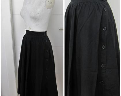 חצאית וינטג' שחורה של אתא ♥ חצאית מסתובבת ♥ חצאית קלוש