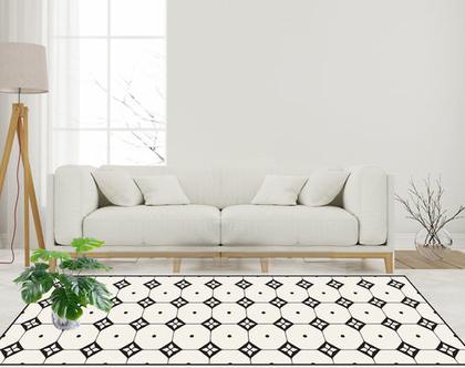 שטיח פי.וי.סי - Nordic design-9| שטיח PVC | עיצוב נורדי | שטיחי PVC| שטיחים מעוצבים| שטיח למטבח| שטיחים לבית|שטיח שחור לבן