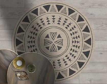 שטיח ויניל מעוצב עגול דגם Hodor