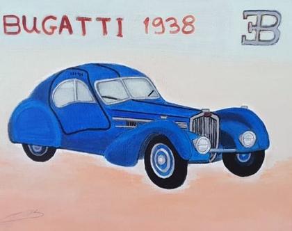 ציור - בוגאטי 1938