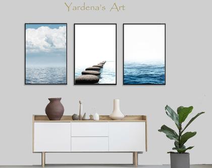 סט תמונות אבסטרקט - Ocean Art -9 | סט תמונות בעיצוב מינימליסטי |עיצוב מקורי | תמונות לעיצוב הבית | תמונות לעיצוב המשרד| תמונות לחדר השינה