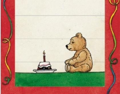 כרטיס ברכה- דובי