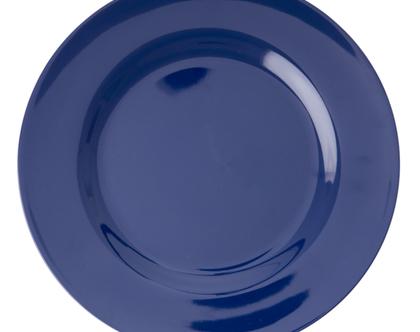 צלחת מלמין גדולה כחול נייבי