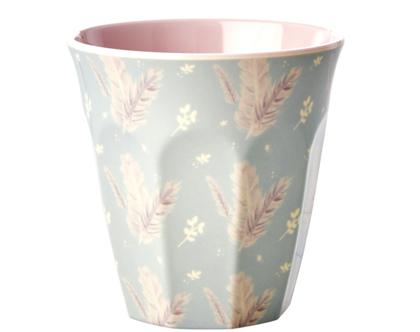כוס מלמין טוטון הדפס נוצות | RICE DK