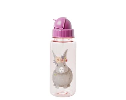 בקבוק ילדים מפלסטיק ארנבת ורוד PLBOT-FARMI