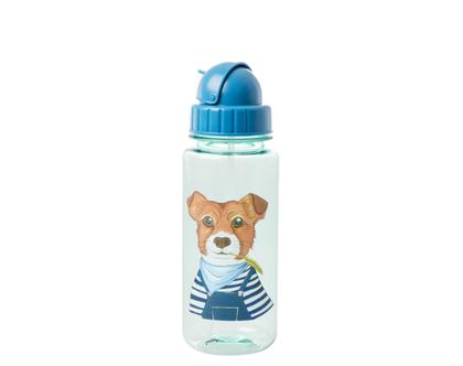בקבוק ילדים מפלסטיק כלב כחול PLBOT-FARMG