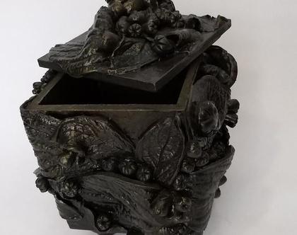 קופסת עץ מעוצבת | קופסת תכשיטים מעוצבת בעבודת יד |