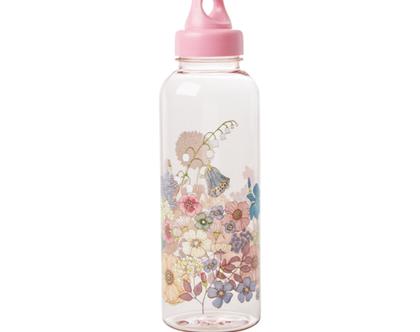 בקבוק שתייה מפלסטיק פרחים 1 ליטר | RICE DK | SOFI
