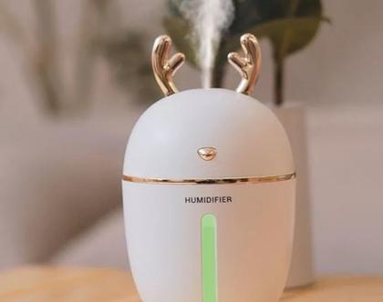 מפיץ ריח ארומאטי מהמם ביופיו לבית 400מל מחליף צבעים כולל שמן ארומאטי טהור מתנה