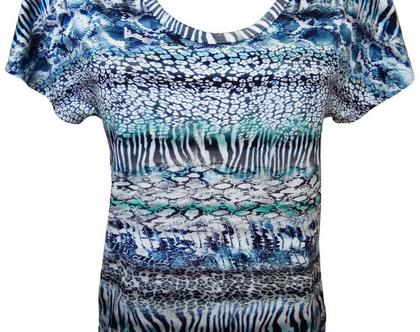 חולצה קיץ בהדפס מנומר
