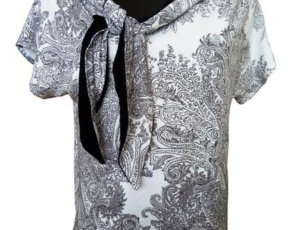 חולצת קשר בשחור לבן