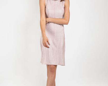 שמלה צמודה עם צווארון גולף נשפך-דגם שטרודל