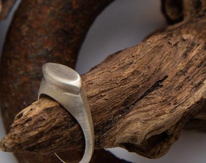 טבעת חותם עתיק כסף 925