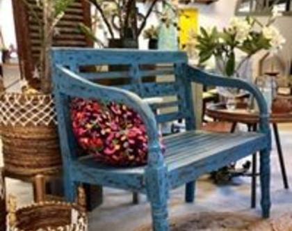 ספסל זוגי כחול