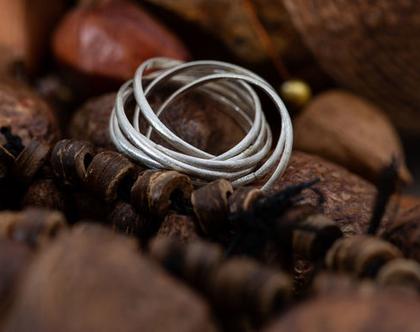 טבעת מרובת חישוקים כסף 925