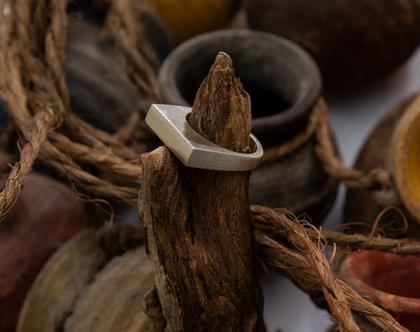 טבעת פרוסה עבה כסף 925
