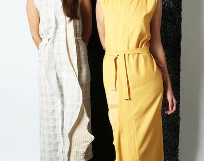שמלת מקסי Verve צהובה