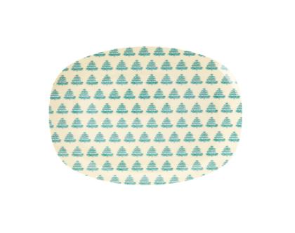 מגש מלמין אובלי קטן הדפס עצי אשוח | SOFI | RICE DK